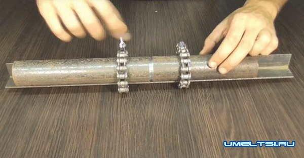 Полезное приспособление для сварки труб