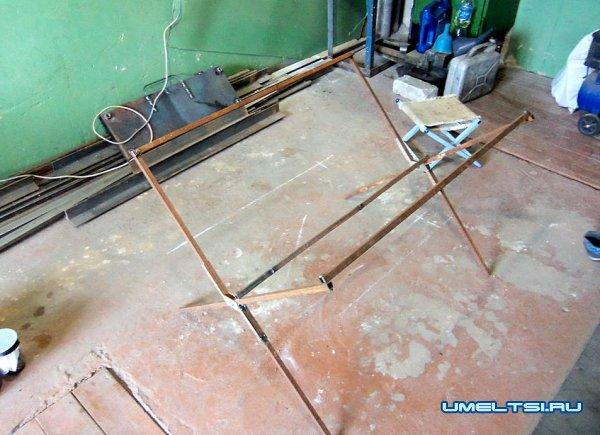 Изготовление раскладного столика для пикника