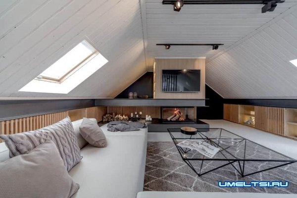 Советы по созданию уютной гостиной в мансарде