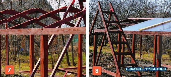 Строительство теплицы из дерева