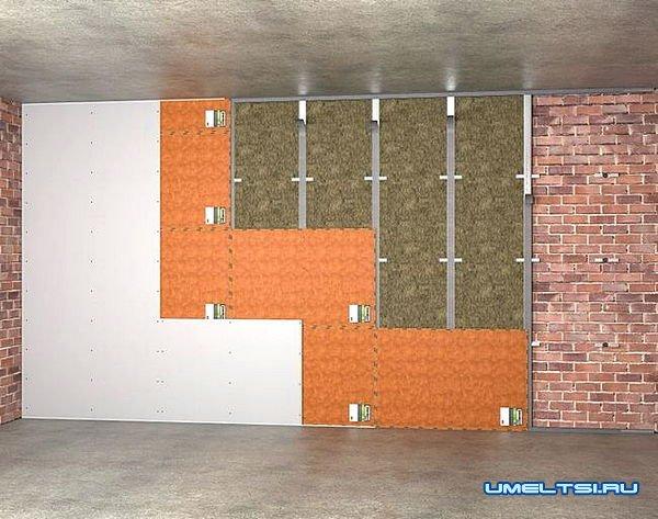 материалы для шумоизоляции стен