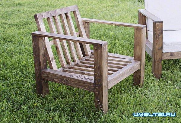 Делаем деревянные кресла для террасы