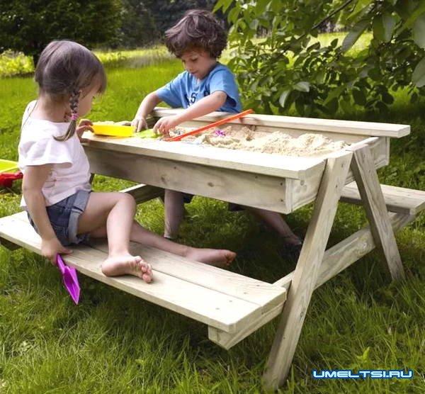 Детская песочница своими руками на столе