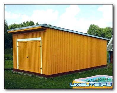 Строим гараж на участке: мастер - класс