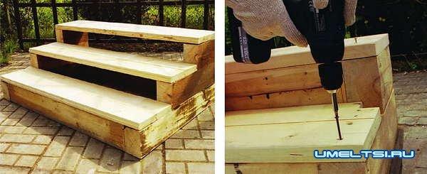 Делаем деревянное крыльцо своими руками