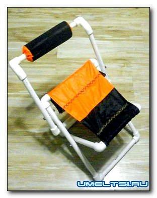 Детский стульчик из пластиковых труб
