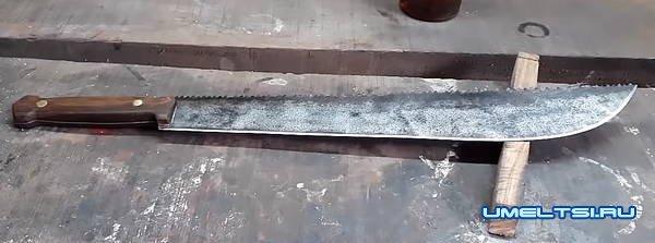 Изготовление мачете в гаражных условиях