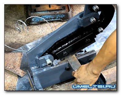 Изготовления гильотины для резки листового металла