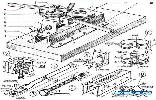 Делаем простой трубогиб для профильных труб - чертеж