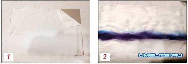 Картины из шерсти: мастер класс для начинающих
