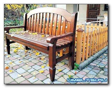 Изготовление скамейки для сада или террасы