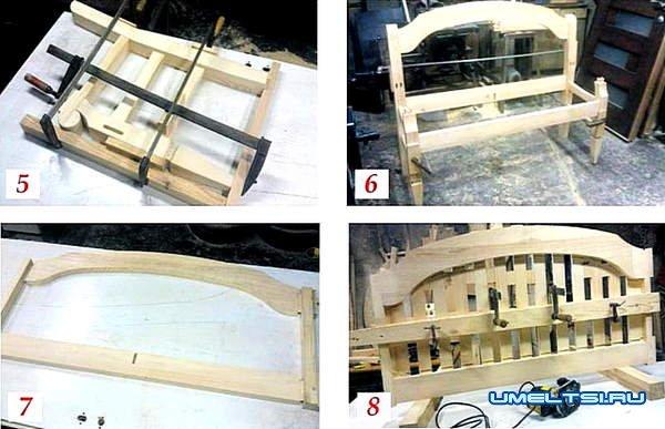 Изготовление скамейки для сада