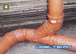 ошибки при монтаже канализационных труб