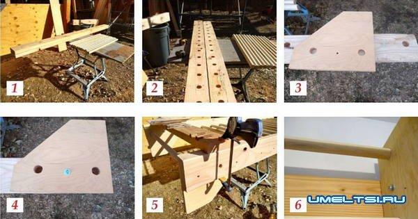 Как сделать шведскую стенку из дерева