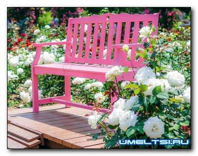 Садовые скамейки: деревянные, кованные, литые для дачи своими руками