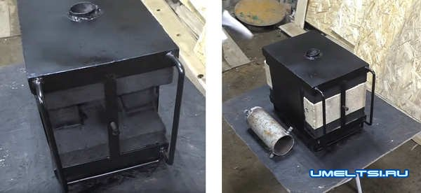Изготовление газового горна из кирпича