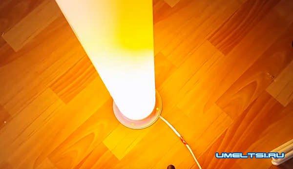 диодный светильник из ПВХ трубы