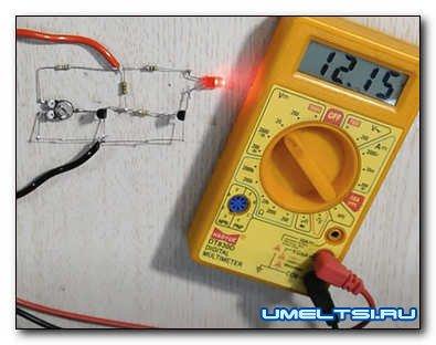 Индикатор разряда для любого аккумулятора