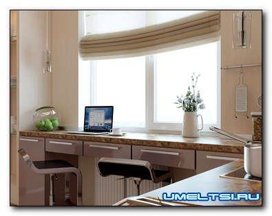 Как задействовать окно на кухне в ее дизайне?