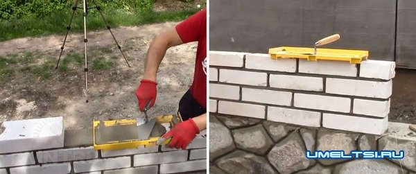 самоделки для кладки стены