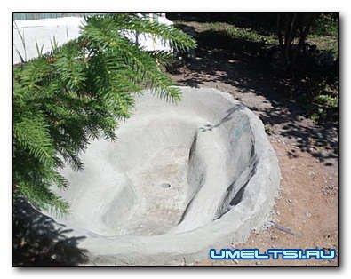 Делаем ступенчастый декоративный пруд на даче