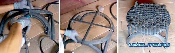 кресло из шин