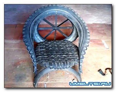 Как сделать кресло из шин своими руками