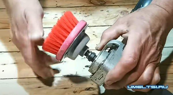 из дрели для чистки ковров