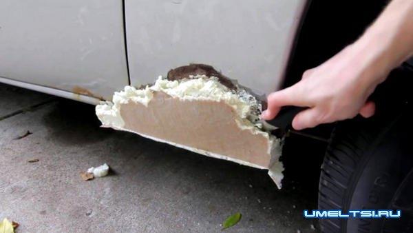 Ржавые дыры в кузове авто