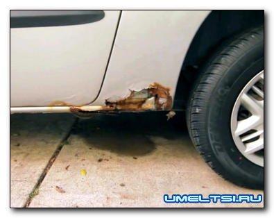 Ржавые дыры в кузове авто латаем без сварки
