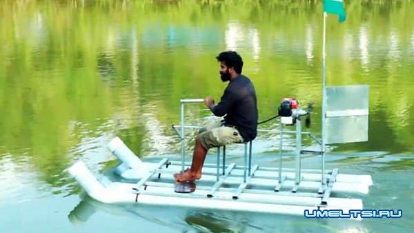 лодка из пластиковых труб