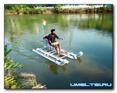 Делаем лодку из пластиковых труб