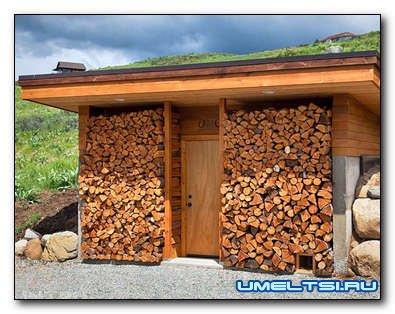Поленница для дров: укладка, хранение