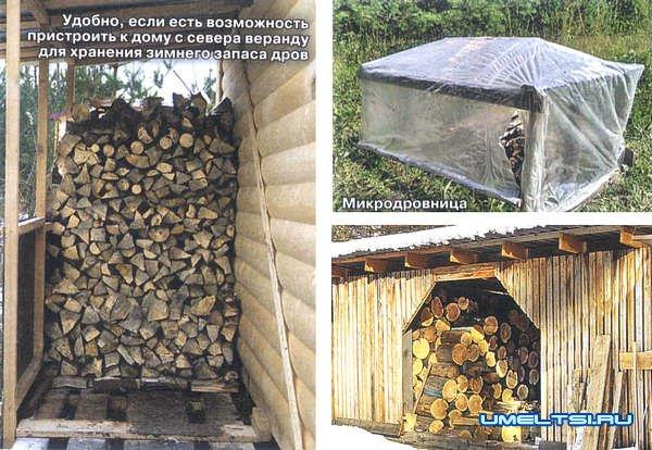 Поленница для дров своими руками