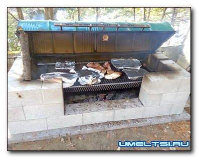 Строим большую печь-барбекю своими руками