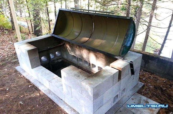 Строим большую печь-барбекю