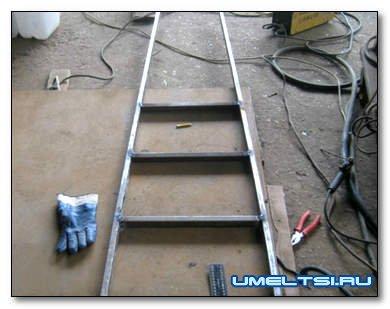 Изготовление садовой лестницы с упором