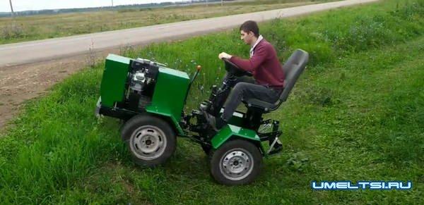 Самодельный мини-трактор переломка