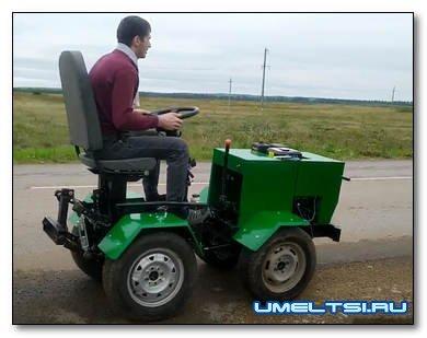 Самодельный мини-трактор переломка, аналог