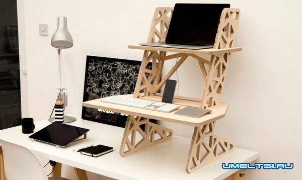 Стоячий стол для ноутбука своими руками