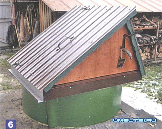 Делаем домик для колодца