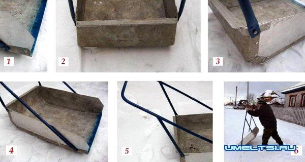 Большая лопата для очистки снега