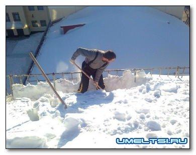 Как сделать лопату для чистки снега