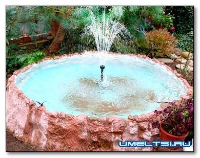 Строим садовый мини-пруд с фонтаном