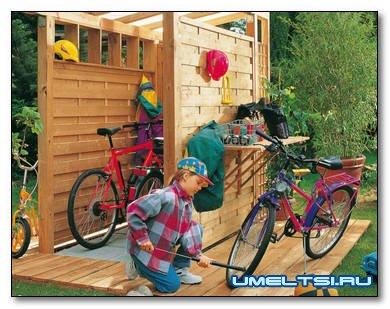 Строим навес для велосипедов